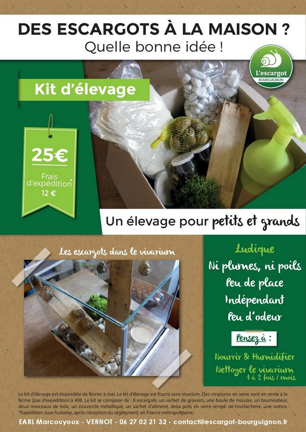 Kit d'élevage d'escargots